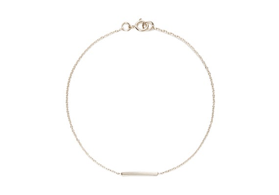 Image of LONG ALEXIS BAR BRACELET : STERLING SILVER
