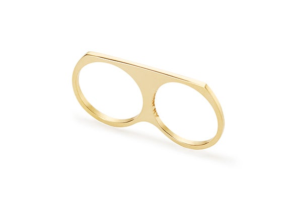 Image of BENA DOUBLE FINGER RING : 14K GOLD
