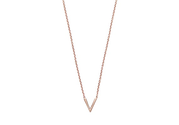 Image of MINI VIOLET NECKLACE : ROSE GOLD