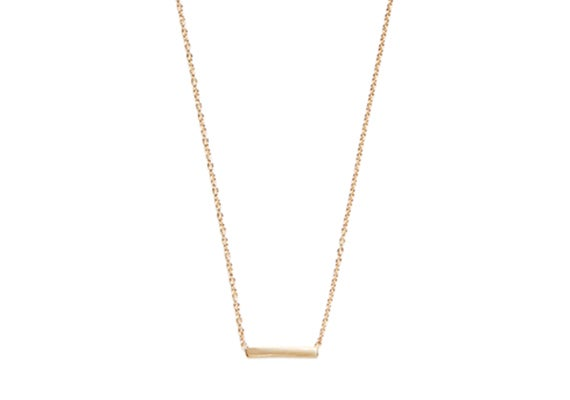 Image of LONG ALEXIS BAR NECKLACE : 14K GOLD