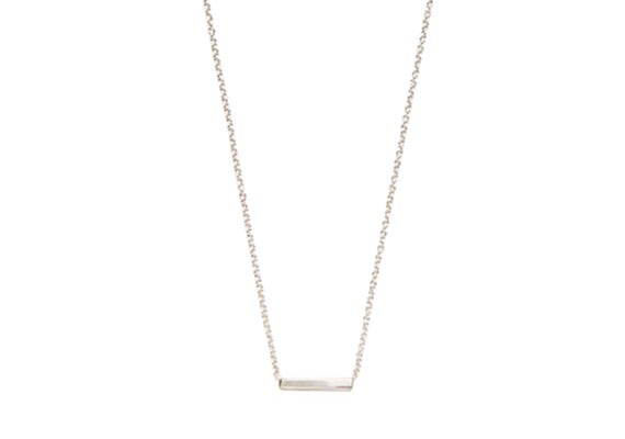 Image of LONG ALEXIS BAR NECKLACE : STERLING SILVER