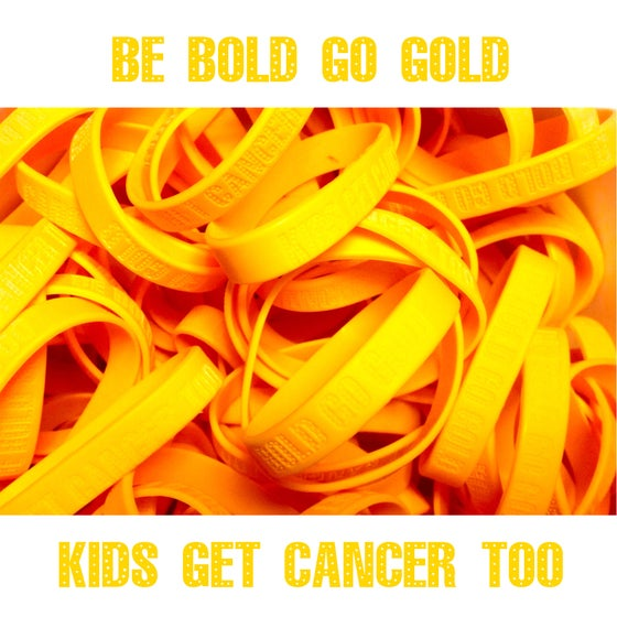 Image of Be Bold Go Gold Plain Yellow (Gold) Band - Pack of 2