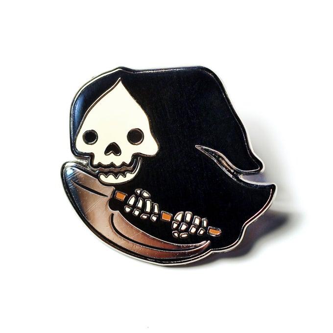 Image of JFishMOJIS Grim Reaper Lapel Pin