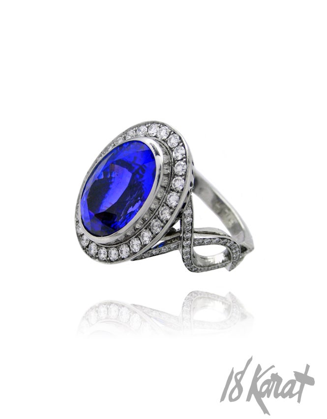 Eva s Tanzanite Ring 18Karat Studio Gallery