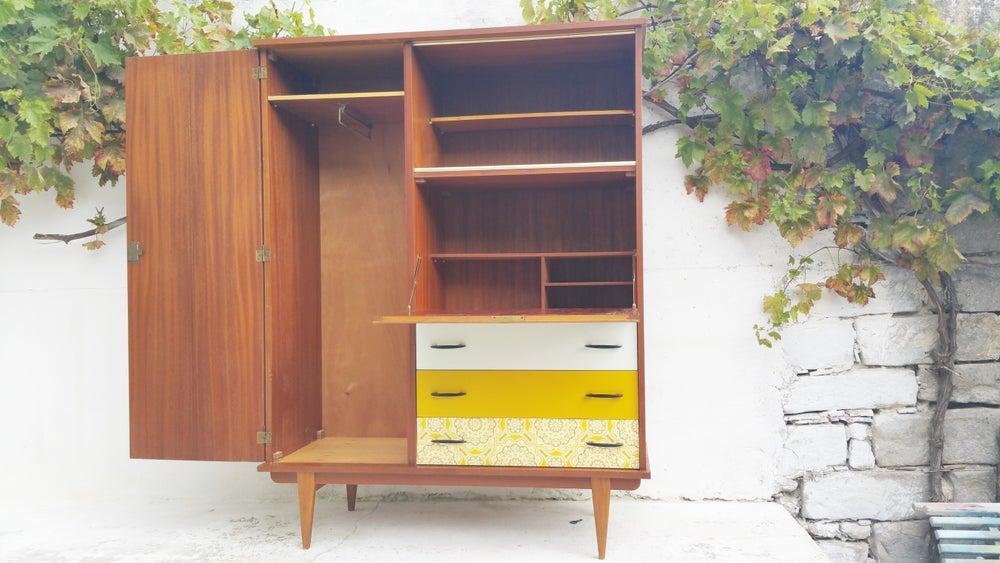 armoire secr taire penderie vintage fibresendeco. Black Bedroom Furniture Sets. Home Design Ideas