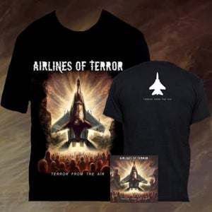 "Image of BUNDLE OFFER: ""Terror From The Air"" CD + ""Terror From The Air"" T-Shirt"