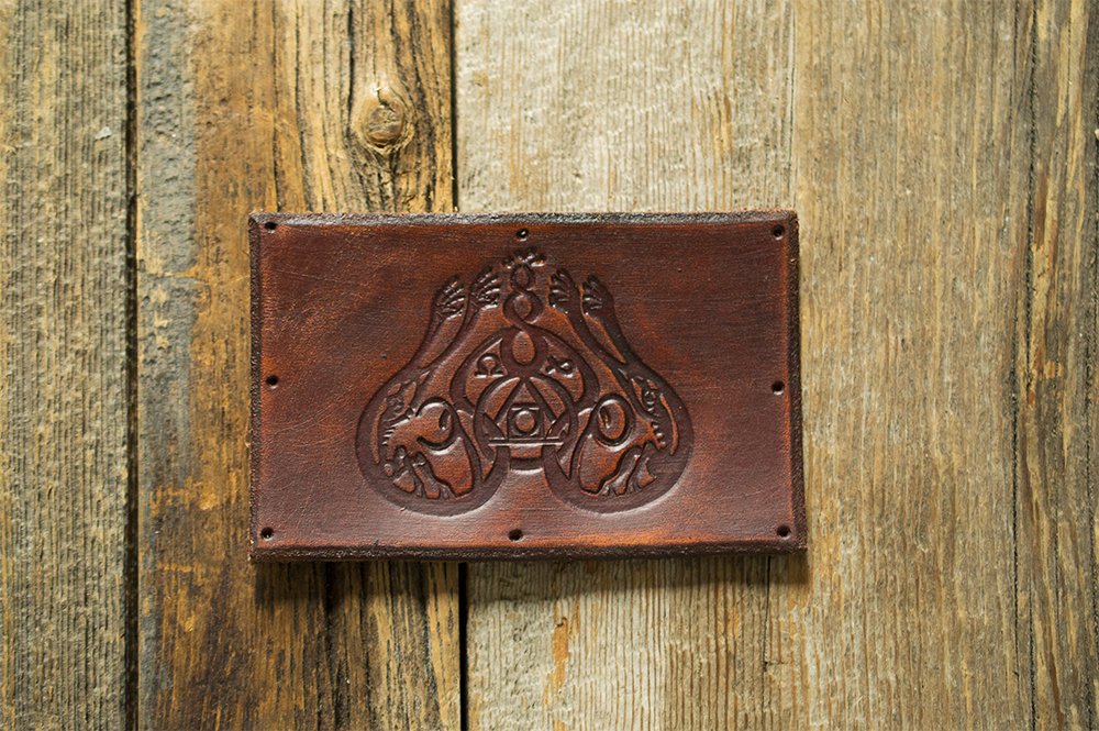 Image of Leather Patch - Classic Logo