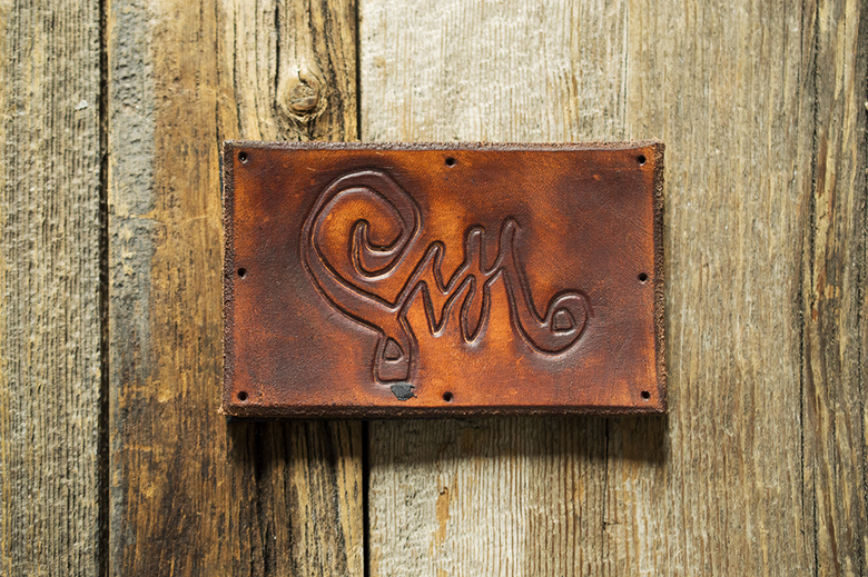 Image of Leather Patch - Calligraphy Logo