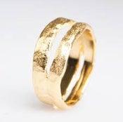 Image of Ring in zilver-geel verguld, verlovingsring, trouwring, Antwerpen
