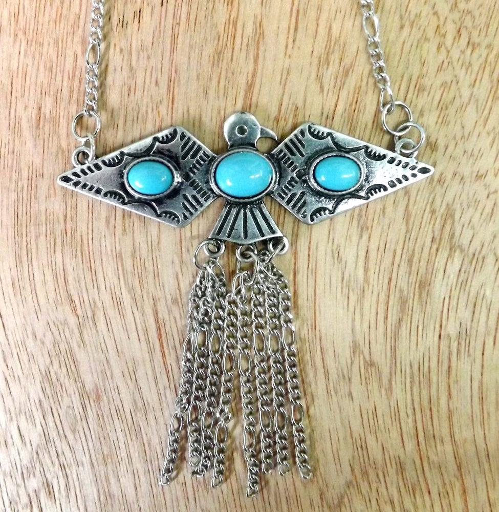 Image of Fringe Falcon Necklace