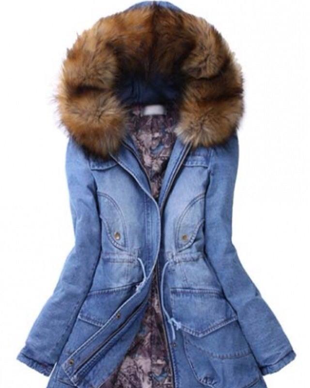 Image of Denim Down Coat