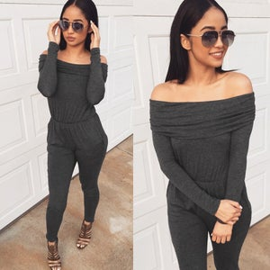 Image of FASHION OFF SHOULDER JUMPSUIT