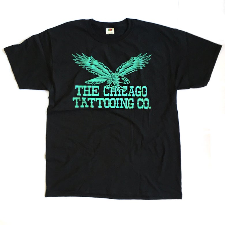 Image of Eagle Short Sleeved Tee - Teal