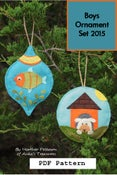 Image of Boys Ornament Set 2015  PDF Pattern ANK 321