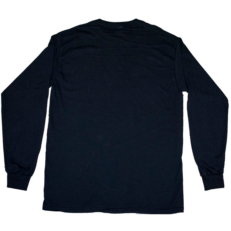 Image of Black Long Sleeve Tee with White Seeburg Logo