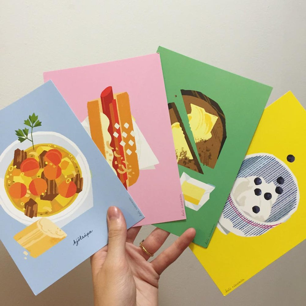 Image of Kali Ciesemier's Iceland Eats postcards
