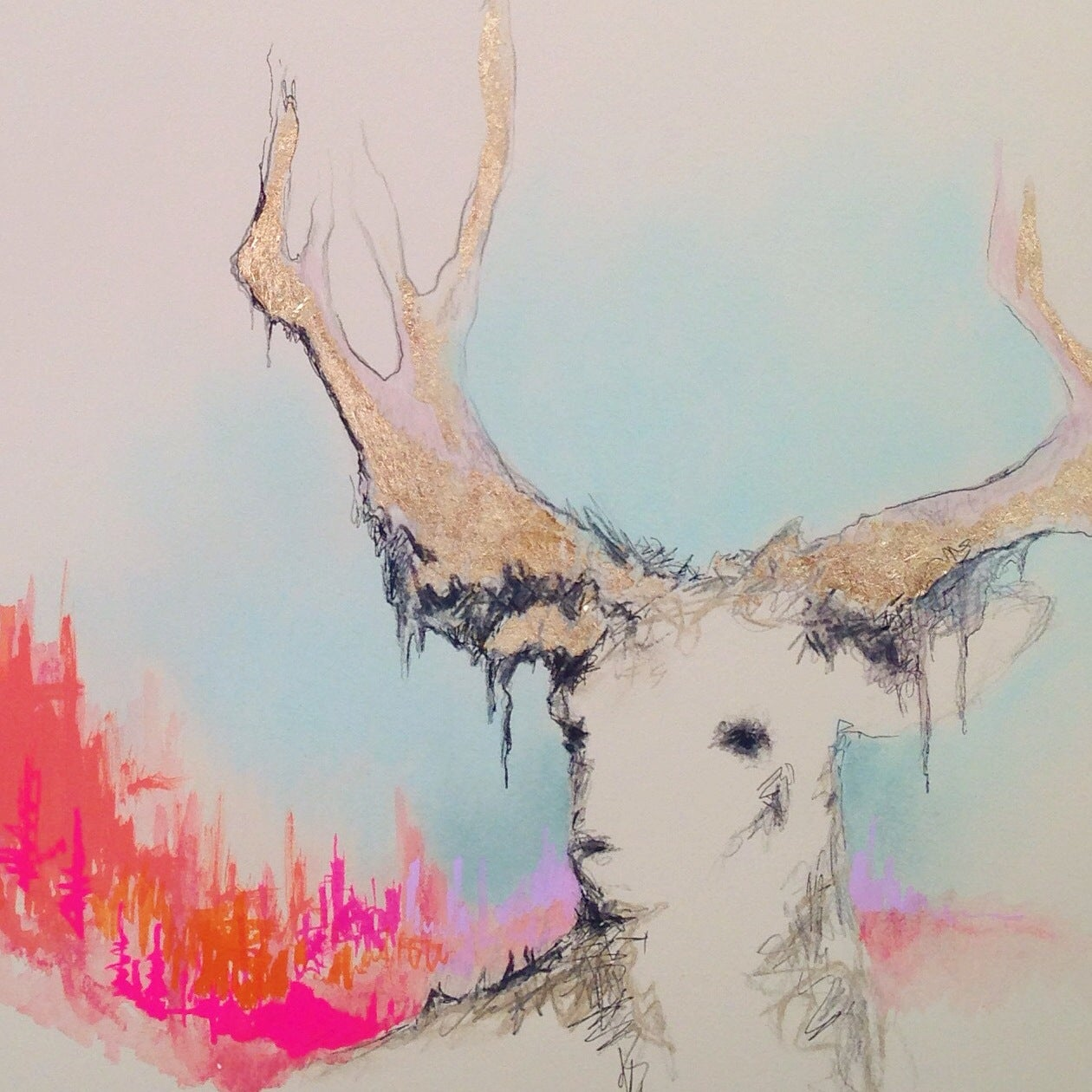 Image of Deer In Velvet, Lilac Valley 2015