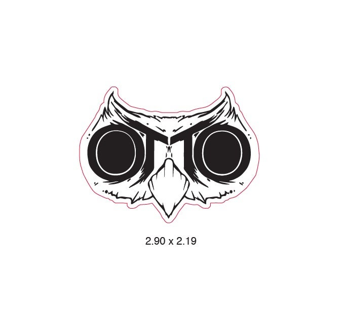 Image of OTTO OWL UV vinyl logo sticker