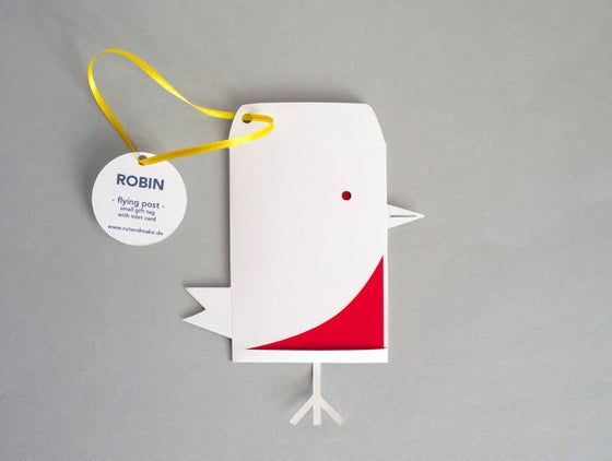 Image of 2 x Robin Envelope Gift Tag