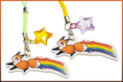 Image of Rainbow Fox Charm