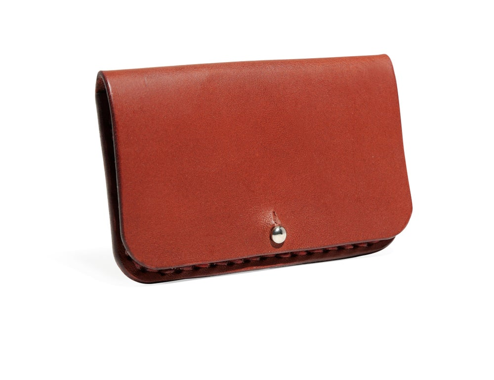 Image of Ox Blood Card Case
