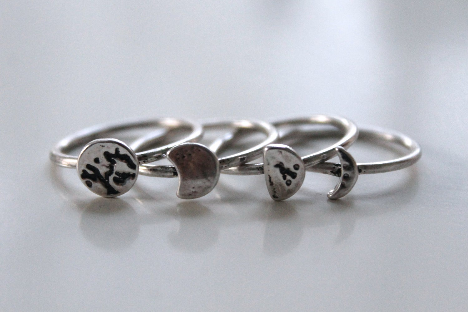 Image of Phases Of The Moon Ring Set (40% Off)