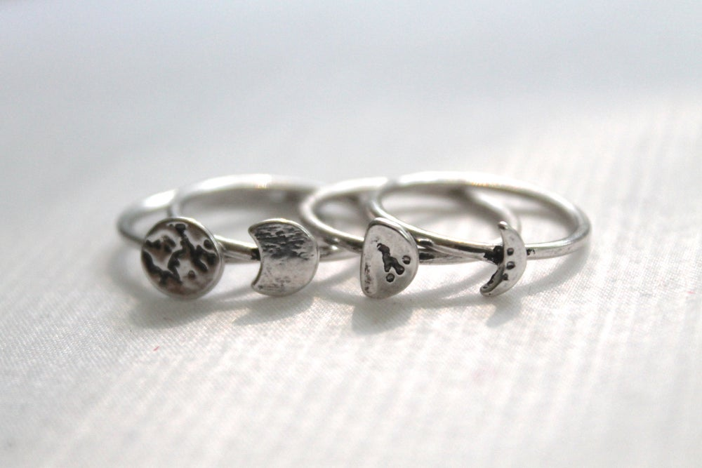 Image of Phases Of The Moon Ring Set
