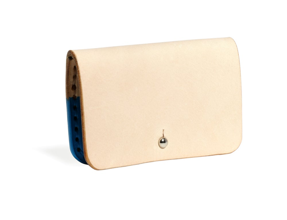 Image of Hand Dipped in Turquiose Paint Card Case