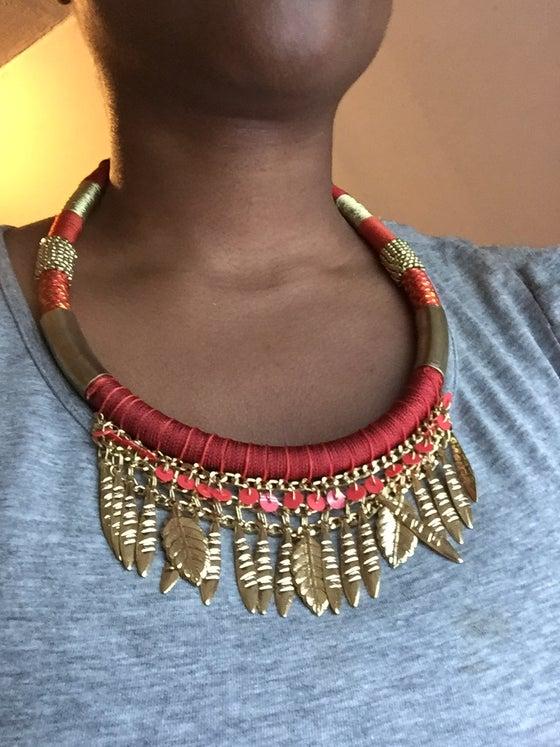 Image of Coral Leaf Necklace