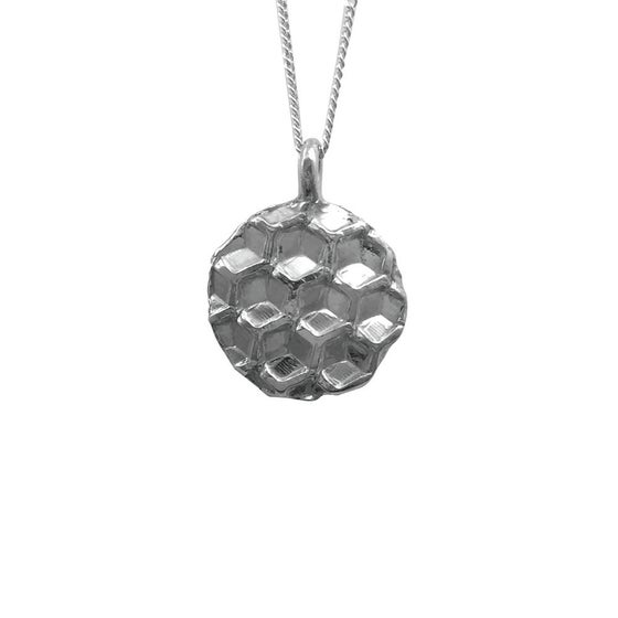 Image of Honeycomb Necklace Circle Small