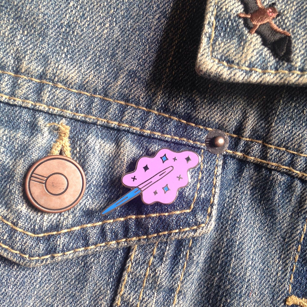 Image of Cotton Candy Magic Wand pin