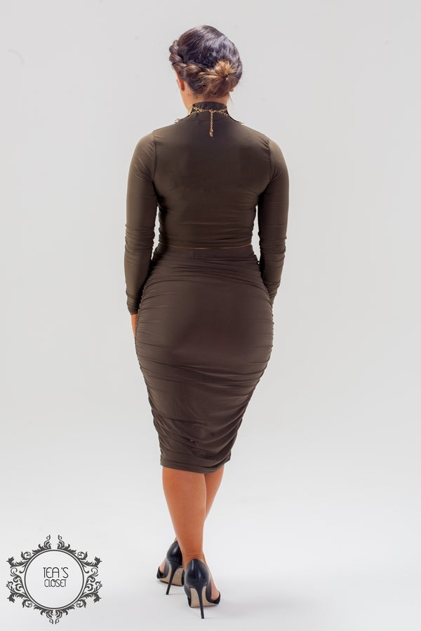 Image of GABY KHAKI TWO PIECE