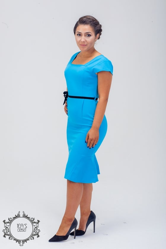 Image of TASH MIDI DRESS