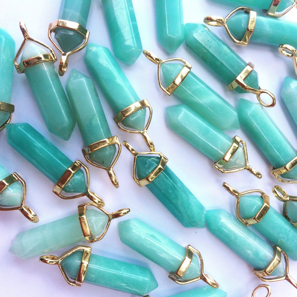 Image of Gold amazonite necklace & choker