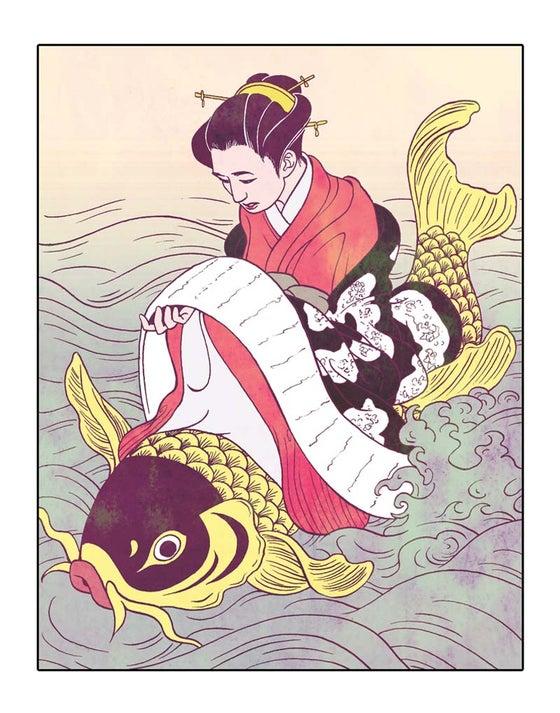 "Image of ""Harunobu"" Print by Natalie Nourigat"