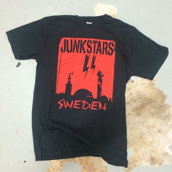 "Image of JUNKSTARS ""Stockholm"" (Red T-shirt)"