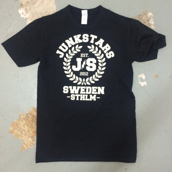 "Image of JUNKSTARS ""Wreaths"" ( Black T-shirt)"