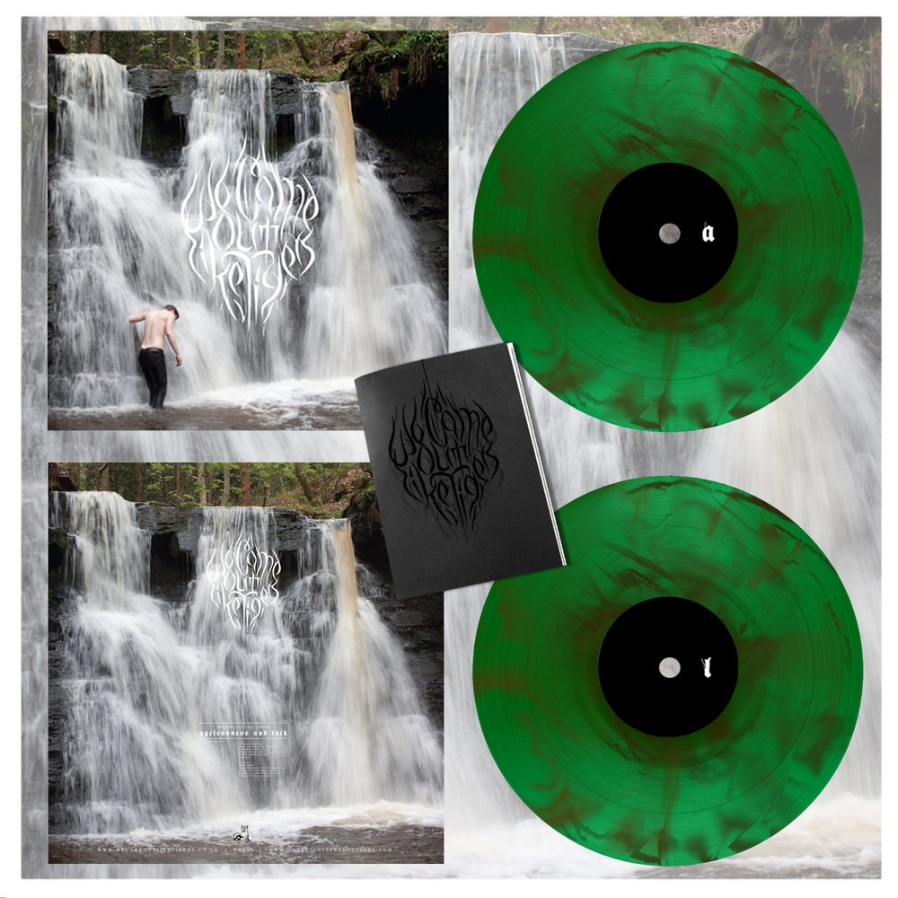 "Image of We Came Out Like Tigers – Agelessness and Lack 12"" LP - 2nd Press - Green w/ Brown /300"