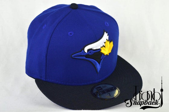 Image of TORONTO BLUE JAYS CUSTOM AIR JORDAN XIV LANEY NEW ERA 5950 FITTED HAT