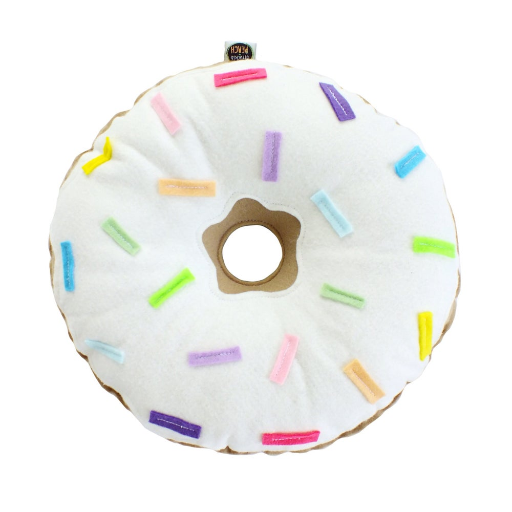 Image of ORIGINAL DONUT - WHITE FROSTING AND RAINBOW SPRINKLES