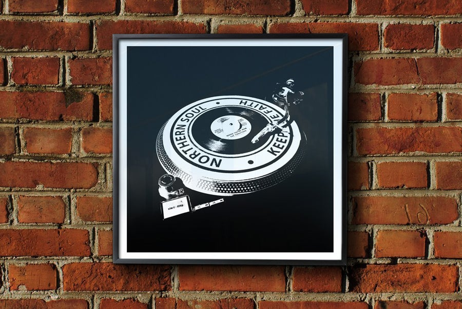 Image of 'Keep The Faith Turntable' Framed Print.