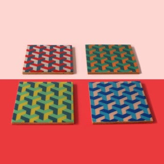 Image of Y-Pattern Coasters