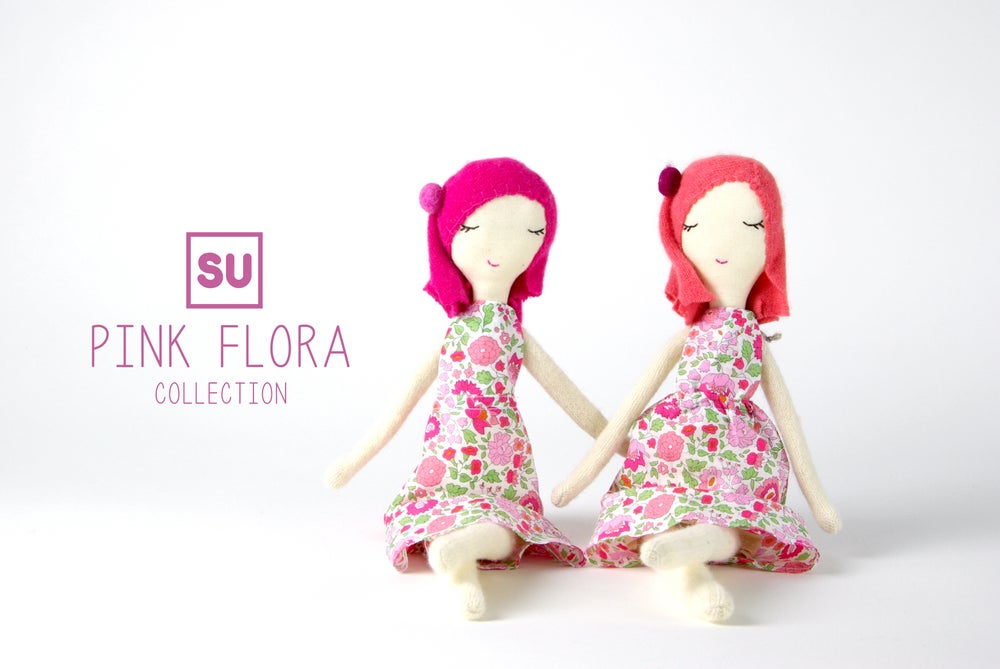 """Image of Pink Flora doll- 14"""""""