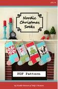 Image of Nordic Christmas Socks PDF pattern