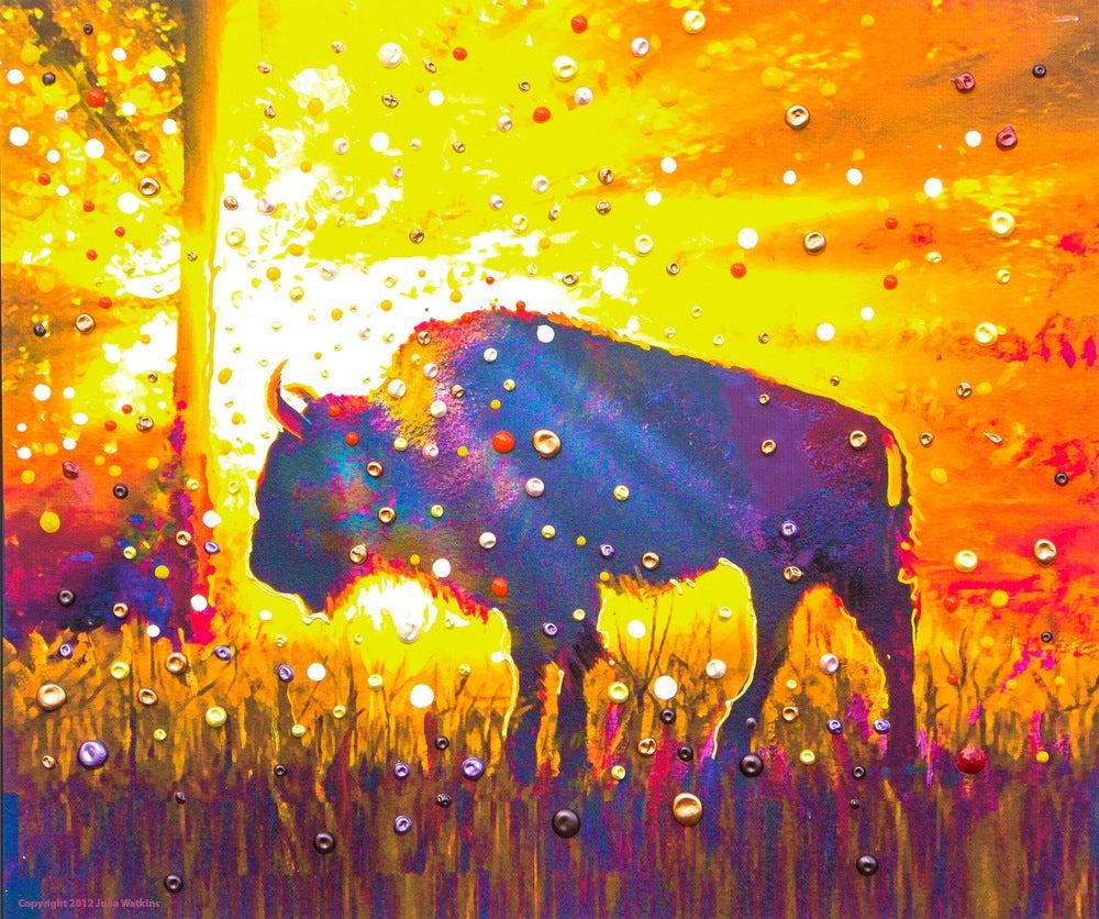 "Image of Sacred Buffalo ""Easy Abundance"" Giclee Print"