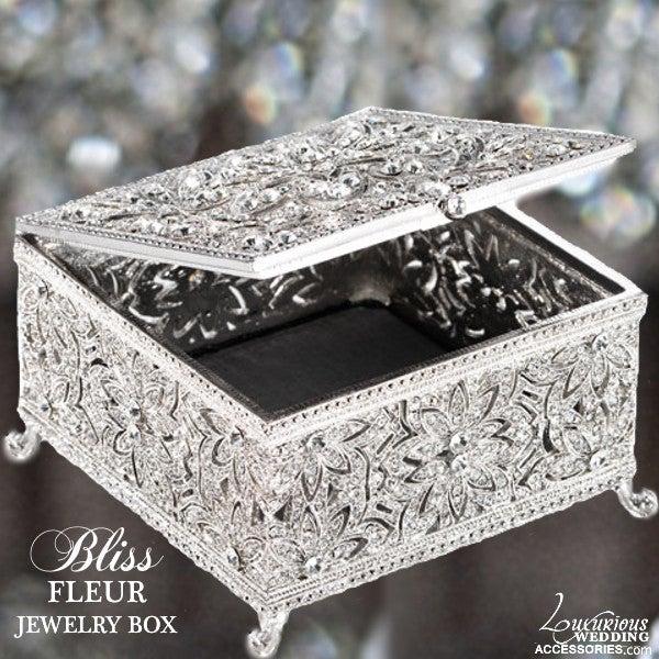 Image of Bliss Swarovski Crystal Fleur Jewelry Box