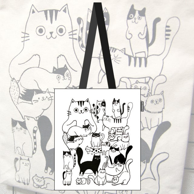 Image of Canvas bag for cat lovers!