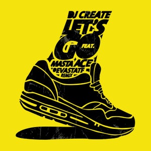 "Image of DJ CREATE & MASTA ACE ""LET'S GO"" 7"" Yellow (Limited & Numbered)"
