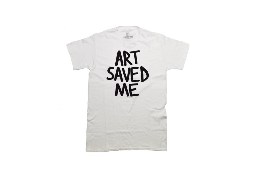 Image of Art Saved Me (White/Black)