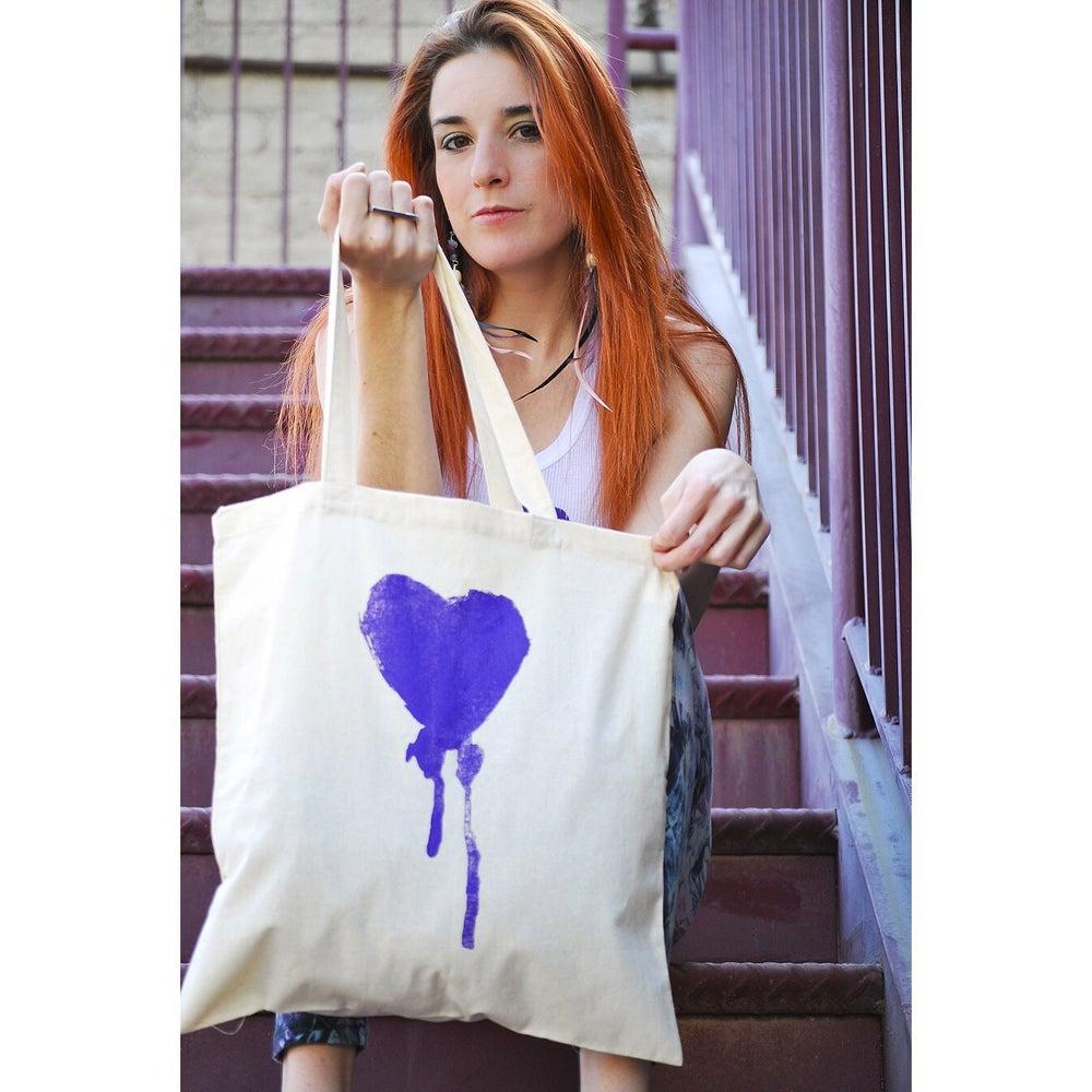 Image of Purple Bleeding Heart Tote Bag